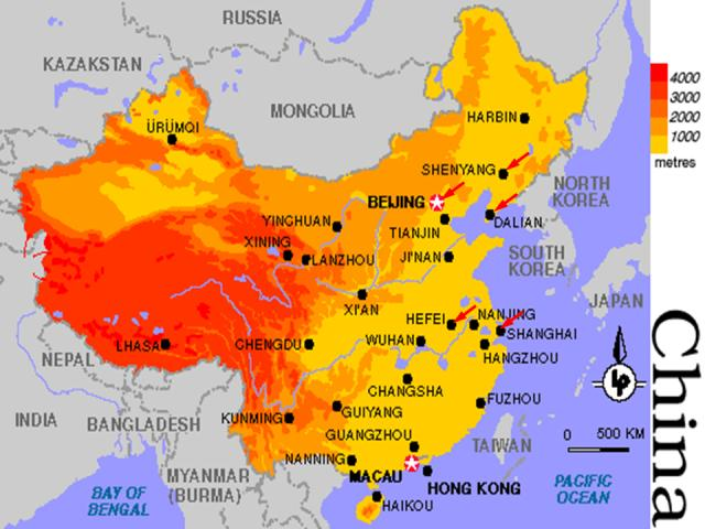 Image Of China Map.China Country Profile Key Facts And Original Articles