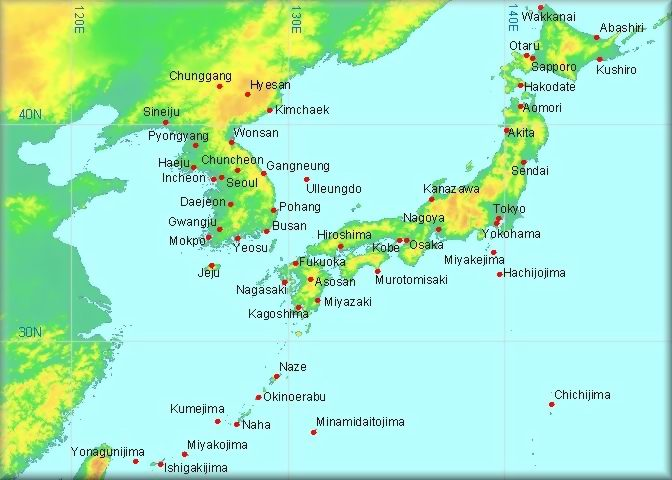 Korea Country Profiles Facts And Original Articles - Japan map korea
